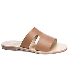Mannie Flat Slide Sandals