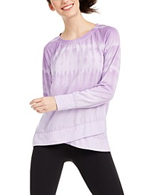 Tie-Dyed Crossover-Hem Top, Created for Macy's