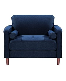 Lillith Modern Chair With Upholstered Fabric and Wooden Frame