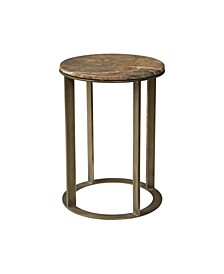 Accent Side Table With Marble