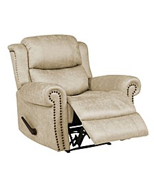 Extra Large Wall Hugger Rolled Arm Recliner Chair