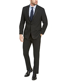 Men's Classic-Fit Black Pindot Suit