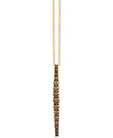 "Le Vian Chocolatier® Chocolate Diamond Linear 18"" Pendant Necklace (7/8 ct. t.w.) in 14k Gold"