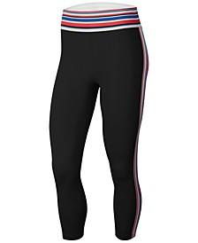 Women's Pro Dri-FIT Stripe Cropped Leggings