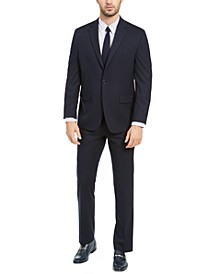 Men's Classic-Fit Navy Blue Solid Suit