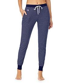Striped Knit Jogger Pajama Pants