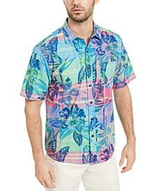 Men's Madras in Paradise Floral Shirt