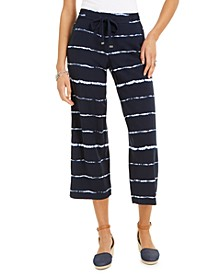 Striped Tie-Dyed Cropped Pants, Created for Macy's