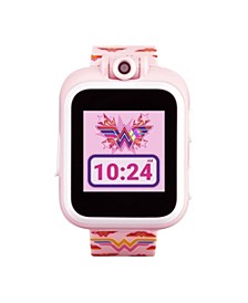 Kids PlayZoom DC Comics Blush Wonder Woman Symbol Strap Touchscreen Smart Watch 42x52mm
