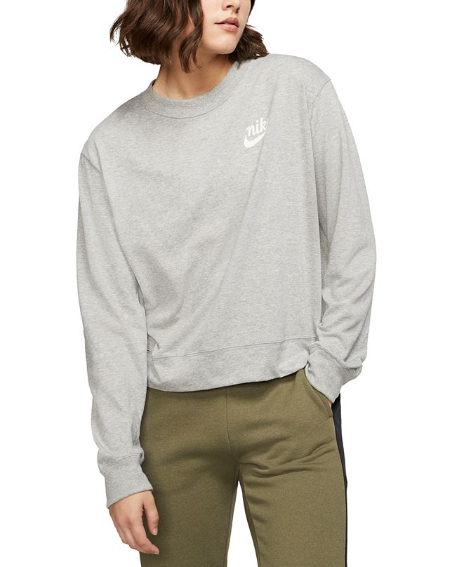 Nike Women's Gym Vintage Sweatshirt