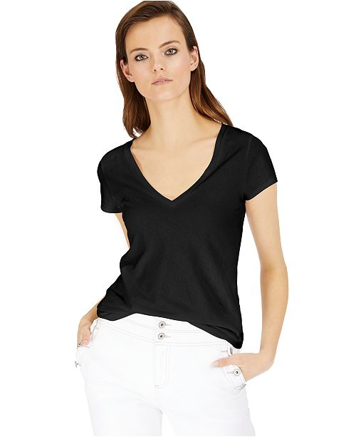 INC International Concepts INC Cotton V-Neck T-Shirt, Created for Macy's
