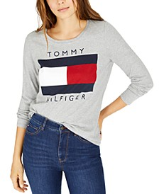 Long-Sleeve Flag Cotton T-Shirt