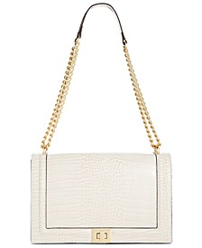 INC Ajae Flap Croco-Embossed Crossbody, Created for Macy's