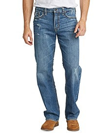 Men's Gordie Loose-Straight Fit Stretch Destroyed Jeans