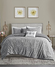 Chantelle Full/Queen 5 Piece Damask Matelasse Cotton Comforter Set