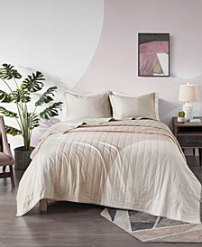 Albany Reversible 3-Piece Full/Queen Coverlet Set