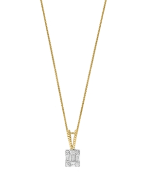 Diamond (1/5 ct. t.w.) Pendant in 14K Yellow and White Gold
