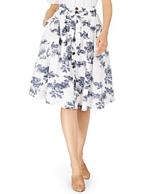 INC Toile Midi Skirt, Created for Macy's