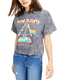 Cotton Pink Floyd Cropped Graphic T-Shirt