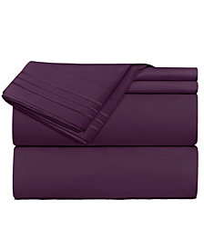 CLARA CLARK Premier 1800 Series 4 Piece Deep Pocket Bed Sheet Set, California King