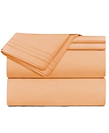 Premier 1800 Series 4 Piece Deep Pocket Bed Sheet Set, Full