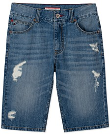 Big Boys Ocean Destroyed Denim Shorts