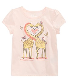 Toddler Girls Giraffe Heart T-Shirt, Created for Macy's