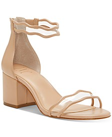 INC Women's Hadwin Scallop Two-Piece Sandals, Created for Macy's