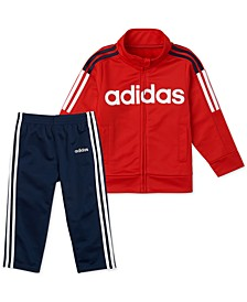 Little Boys 2-Pc. Tricot Jacket & Pants Set