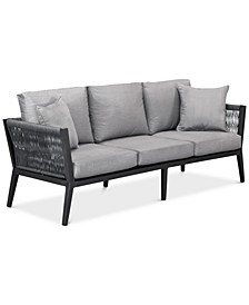 Braxtyn Outdoor Sofa with Sunbrella® Cushions, Created for Macy's