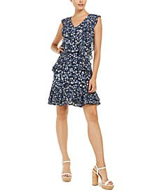 Floral-Print Ruffle Dress, Regular & Petite