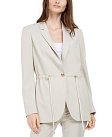 Drawstring Blazer Jacket