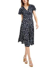 Floral-Print Wrap-Style Dress