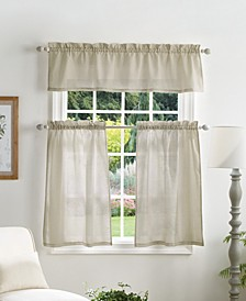 Martha Stewart Bedford Woven Plaid Valance & Tiers Set