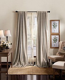 "Martha Stewart Lucca Velvet 50"" x 84"" Blackout Curtain Set"