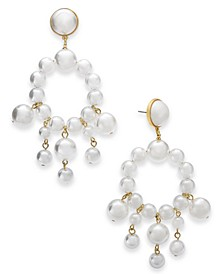 Gold-Tone Imitation Pearl Chandelier Earrings, Created for Macy's