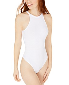 Juniors' High-Neck Bodysuit