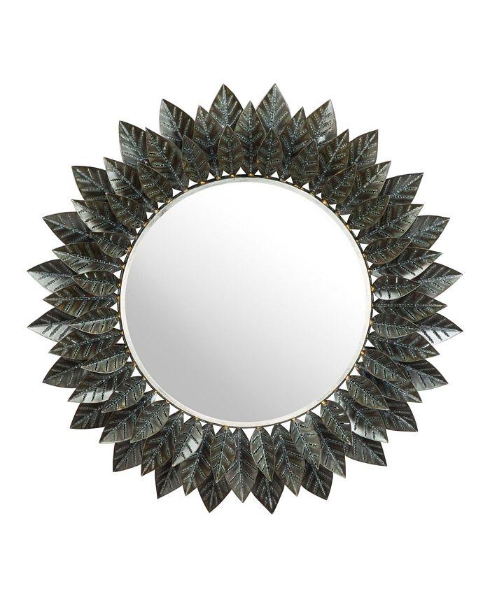 Zuo - Leaf Round Mirror Black