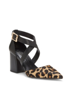 On trend sculpted heel, dressy but can be worn with jeans, classic feminine style with edgy materials.