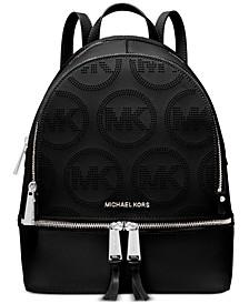 Rhea Zip Small Leather Backpack