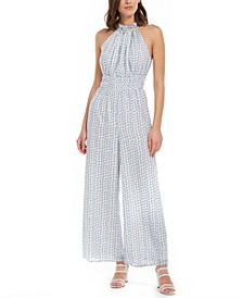 Embellished Polka-Dot Jumpsuit