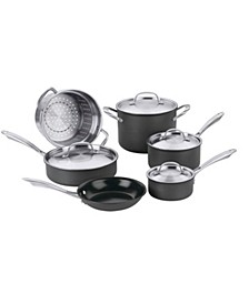 Green Gourmet Hard Anodized 10-Pc. Cookware Set