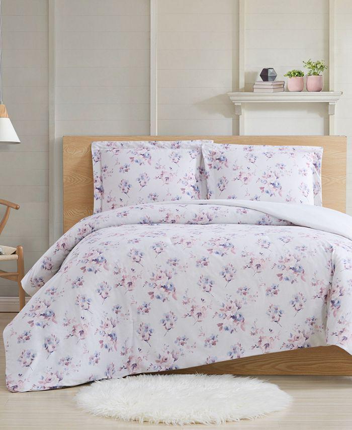 Cottage Classics - Rose Dusk 3-Piece Full/Queen Comforter Set