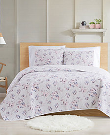 Cottage Classics Rose Dusk 3-Piece Full/Queen Quilt Set