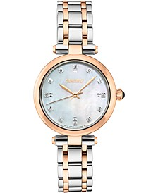 Women's Diamond-Accent Two-Tone Stainless Steel Bracelet Watch 30mm