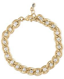 Gold-Tone Link & Crystal Flex Bracelet