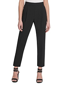 Petite Slim-Straight Pull-On Dress Pants
