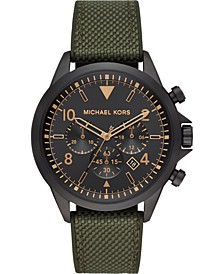 Men's Chronograph Gage Olive Nylon & Silicone Strap Watch 45mm