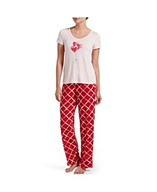 Women's Printed 2 Pc Pajama Set