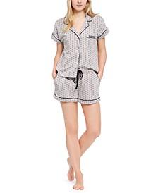 Printed Shirt & Shorts Pajama Set